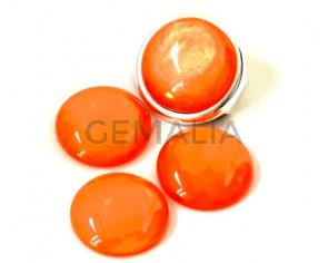 Resina POLARIS. Cabujon. 20mm. Naranja claro perla. Calidad superior