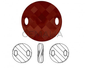 3221 SWAROVSKI. Conector Twist.  18mm. Cristal Red Magma. Int.3x5mm