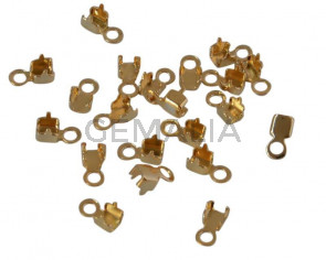 Terminal mini SWAROVSKI metal. Anti nickel allergenic. Gold. 5x2,5mm