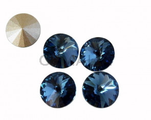 SWAROVSKI 1122 - SS39. Rivoli 8mm. Denim Blue F