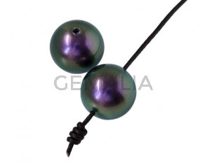 Perla SWAROVSKI 5817. 14mm. Purpura Iridiscente. Int.1,2mm
