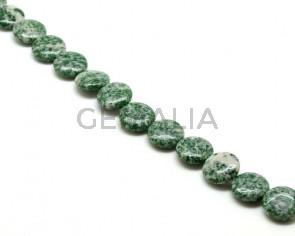 Green spot.Moneda.17x17x6mm.Int.1mm aprox.