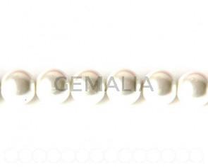 Perla Cristal. Bola 12mm. blanco