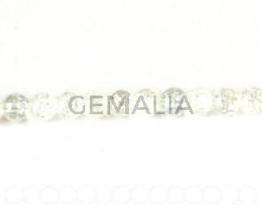 Cristal craquelado. Bola 8mm. cristal Tira 80cm
