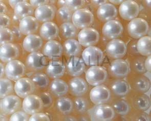 Perlas cultivadas. Bola. 8-9mm. Blanco.