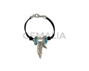 PULSERA Swarovski azul pluma