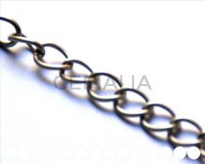 Cadena aluminio. 14,3x11,3x1,8mm. Plateado mate