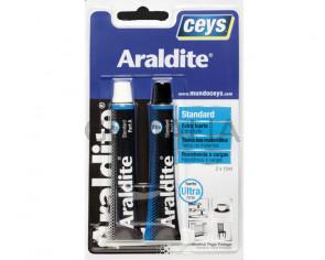 Pegamento Araldite extrafuerte blister grande 15+15ml.