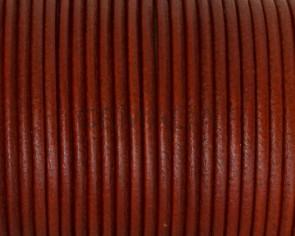 Cordon de cuero Redondo 2,5mm. Naranja butano. Calidad superior.