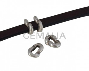 Metal pararell slider 6x4mm. Silver. Int.3x2.5mm