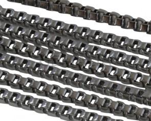 Cadena de Acero inoxidable 304 cuadrada 1,5mm. Plateado.
