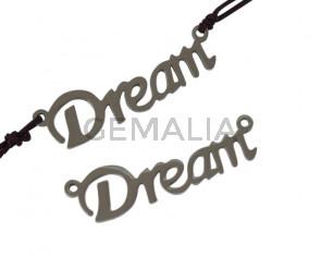 Conector de Acero inoxidable 304. Dream 31x8x1mm. Plateado. Int.1mm