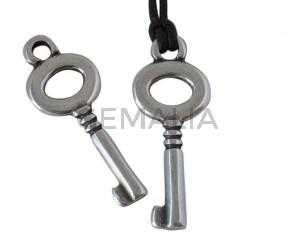 Colgante llave de Zamak 27x12mm - Int.2.6mm