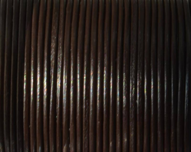 Round Leather Cord. 1mm. Brown