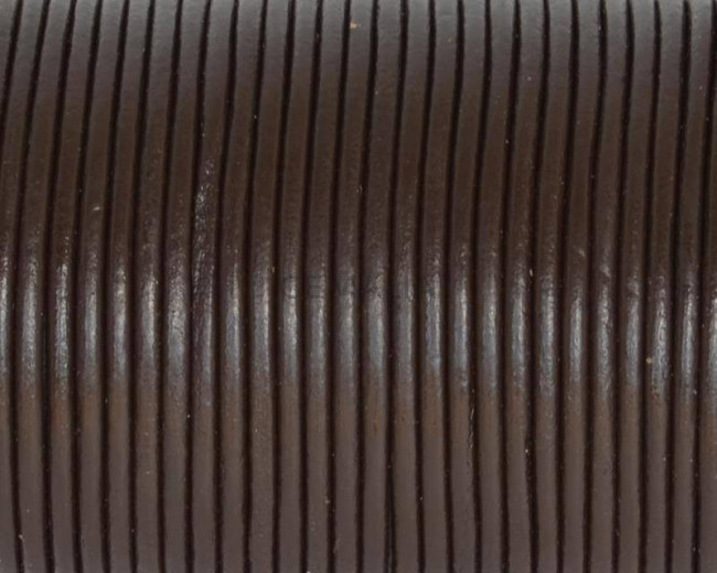 Round Leather cord. 2mm. Brown