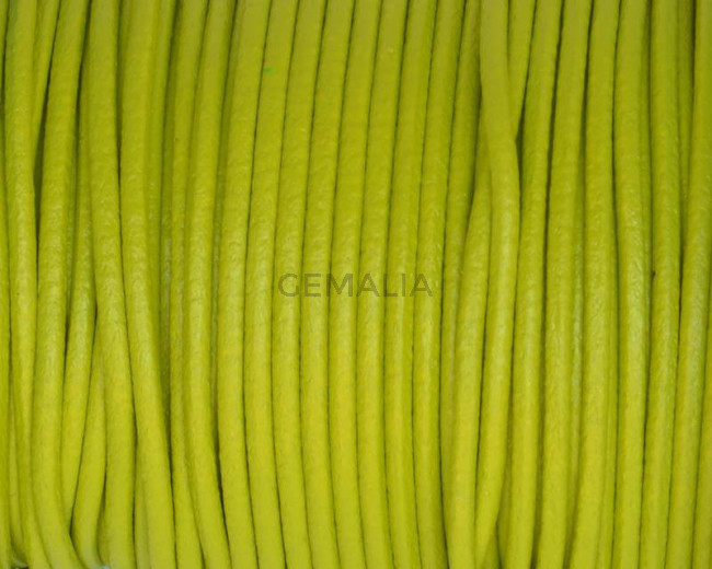 Round Leather cord. 2mm. Pistachio. Best Quality.