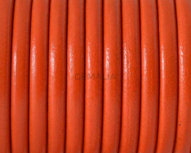 Round Leather cord. 4.5mm. Orange but.Best Quality.