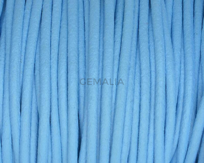 Round leather Cord. 2mm. Sky blue.Best Quality.
