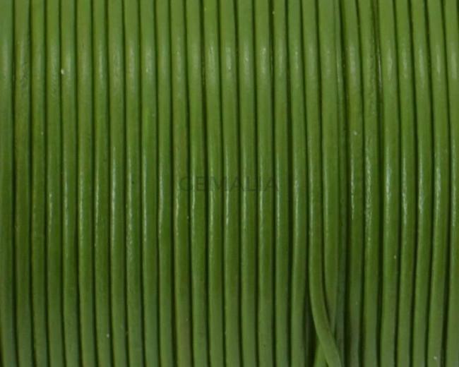 Round Leather Cord. 1mm. Pistachio