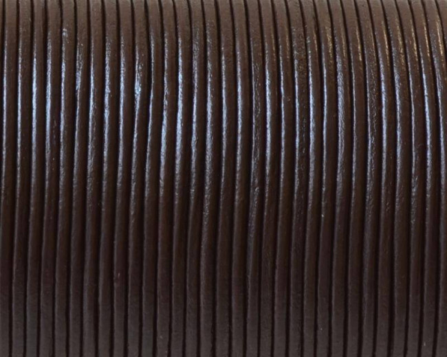 Round Leather Cord. 1.5mm. Brown. Best Quality.
