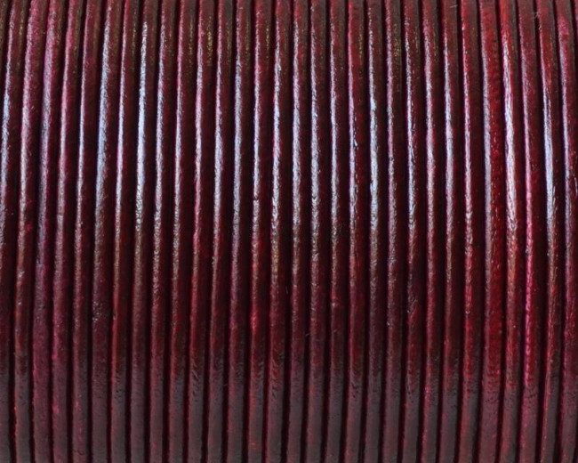 Round Leather Cord. 1.5mm. Burdeaus. Best Quality.