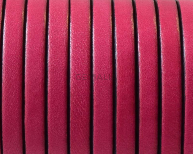 Flat Leather cord. 5x1.5mm. Fuchsia&B. Best Quality.