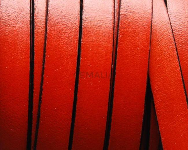 Flat Leather cord 10x1.5mm. Orange&B. Best Quality.