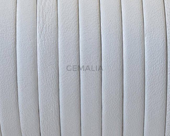Flat Leather cord. 5x1.5mm. White. Best Quality.
