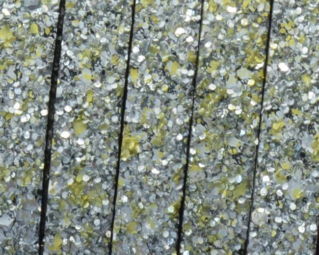 Synthetic Strand. Flat. 10x2mm. Silver-yellow. Best Quality.
