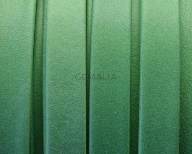 Flat Leather cord. 10x1.5mm. Denver. Green. Best Quality.