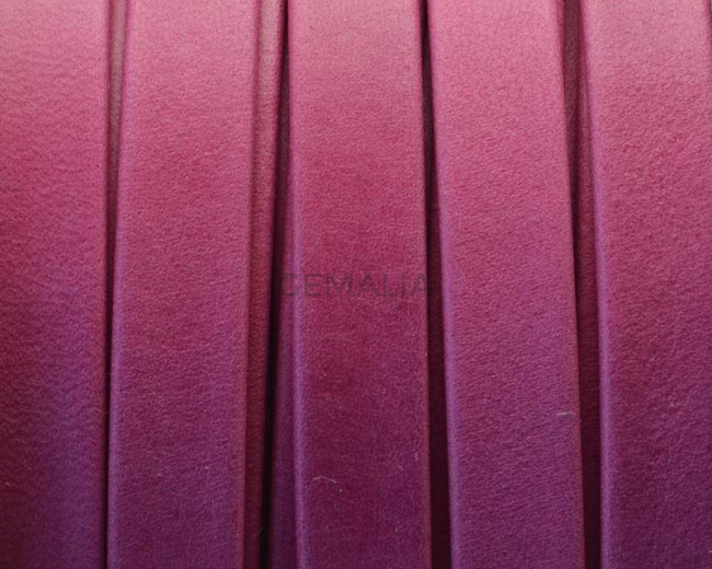 Flat Leather cord. 10x1.5mm. Denver. Fuchsia. Best Quality.