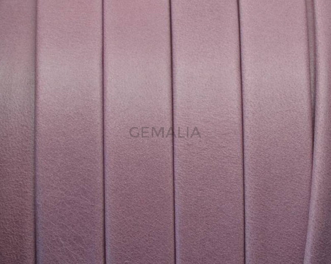 Flat Leather cord. 10x1.5mm. Denver. Pink lilac. Best Quality.