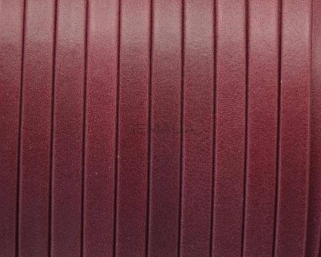 Flat Leather cord. 5x1.5mm. Denver. Garnet.  Best Quality.