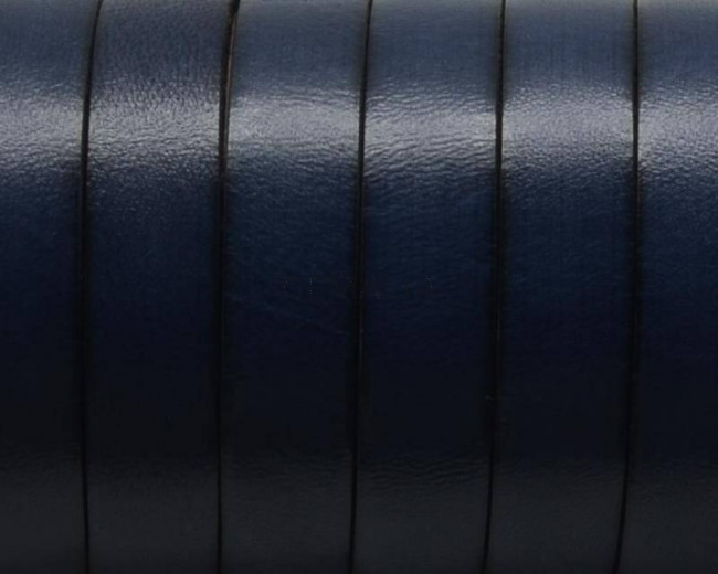 Flat Leather cord. 10x1.5mm. Navy blue3. Best Quality.