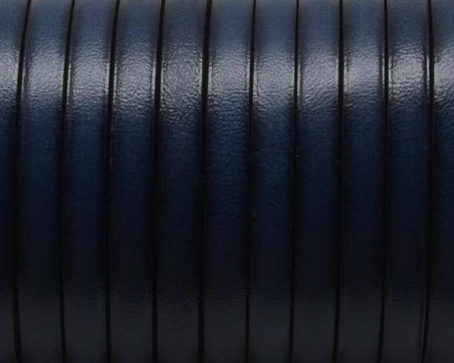 Flat Leather cord. 5x1.5mm. Navy blue3. Best Quality.