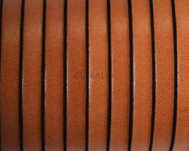 Flat Leather cord. 5x1.5mm. Light brown2-black. Best Quality.