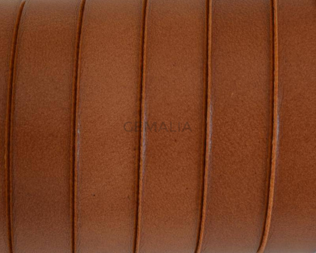 Flat Leather cord. 10x1.5mm. Light brown2. Best Quality.