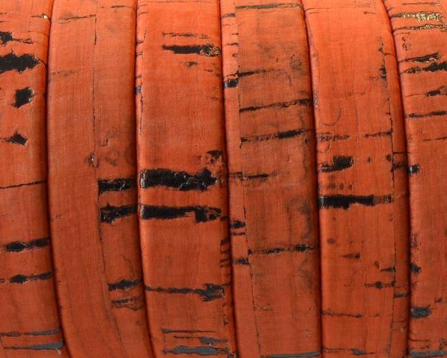 Flat Cork cord. 10x1.5mm. Orange-t. Best Quality.