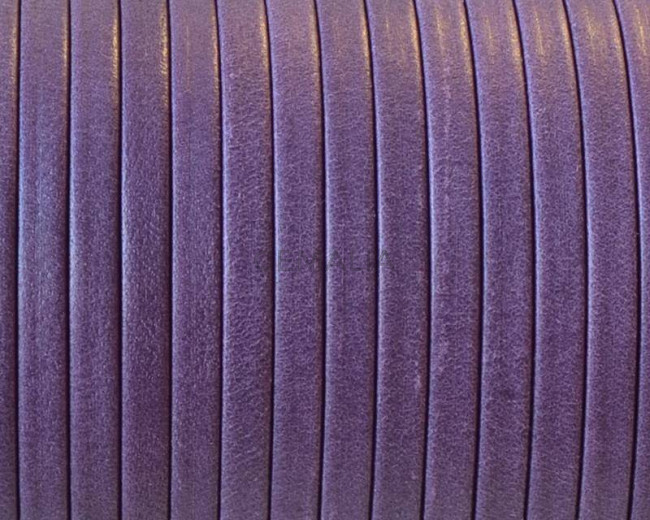 Flat Leather cord. 3x1mm. Denver. Violet. Best Quality.
