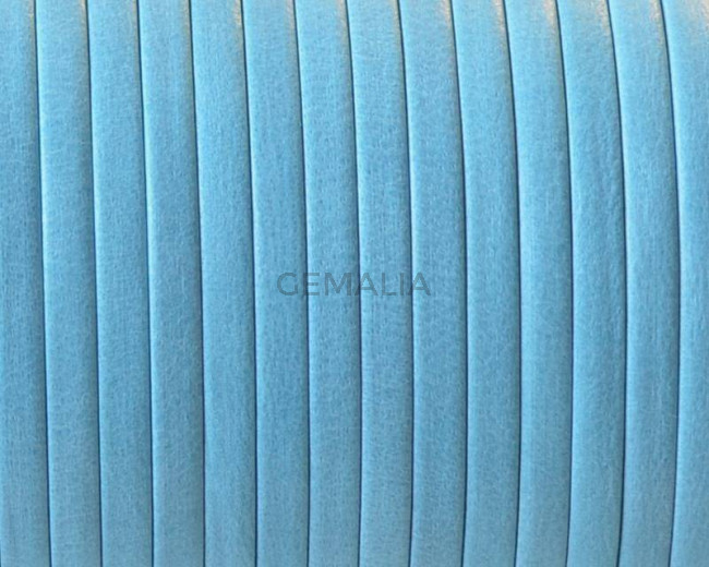 Flat Leather cord. 3x1mm. Denver. Turquoise. Best Quality.