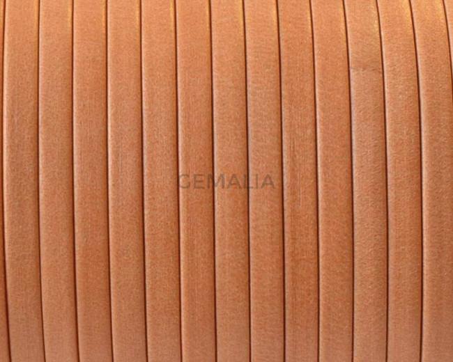 Flat Leather cord. 3x1mm. Denver. Orange. Best Quality.