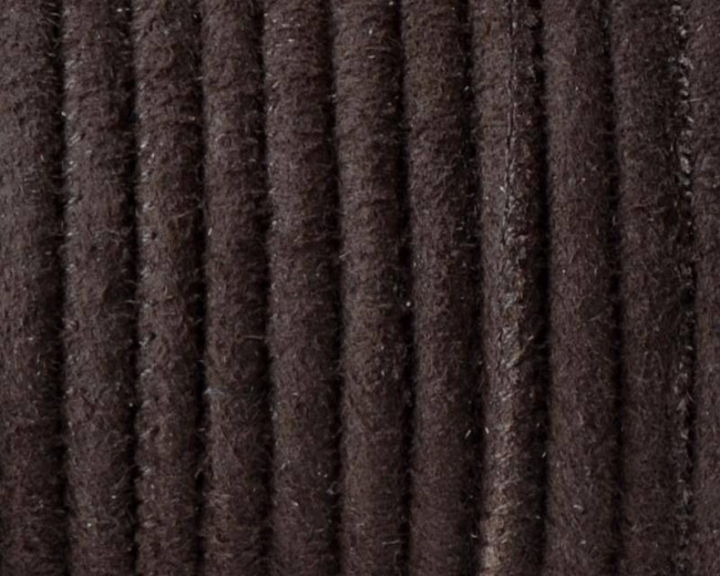Round Stitched leather cord. 4mm. Dark brown. Best Quality.