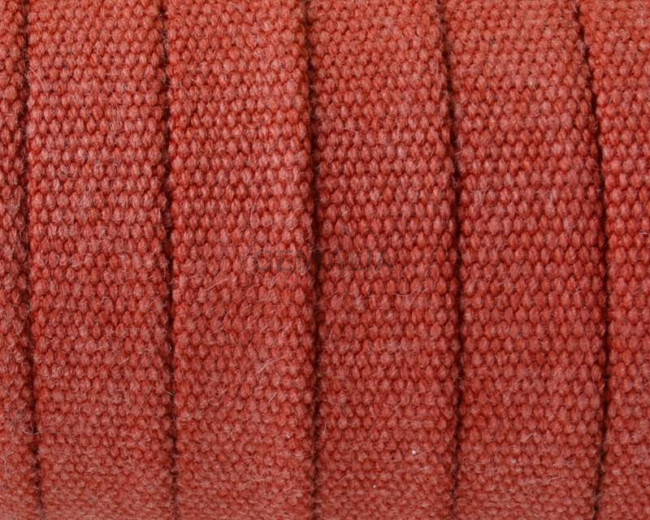 Jeans cloth Flat cord. 10x2mm. Red. Best Quality.