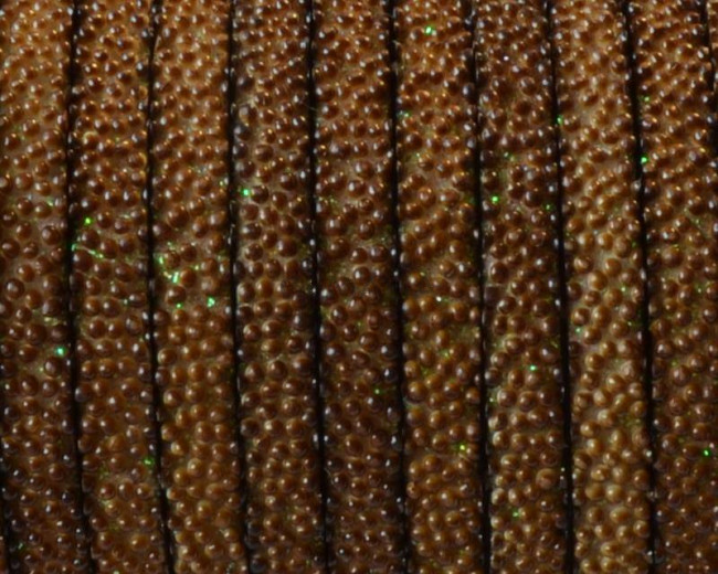 Flat Synthetic Caviar. 5x2mm. Brown. Best Quality.