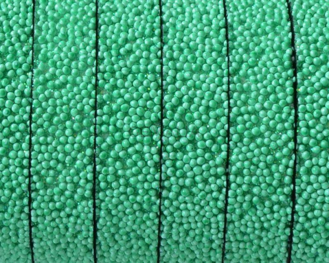 Flat Synthetic Caviar. 10x2mm. Green. Best Quality.