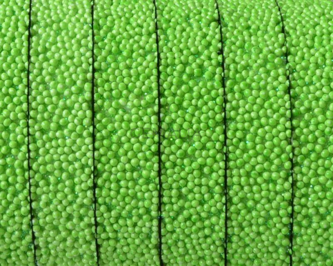 Flat Synthetic Caviar. 10x2mm. Apple green. Best Quality.
