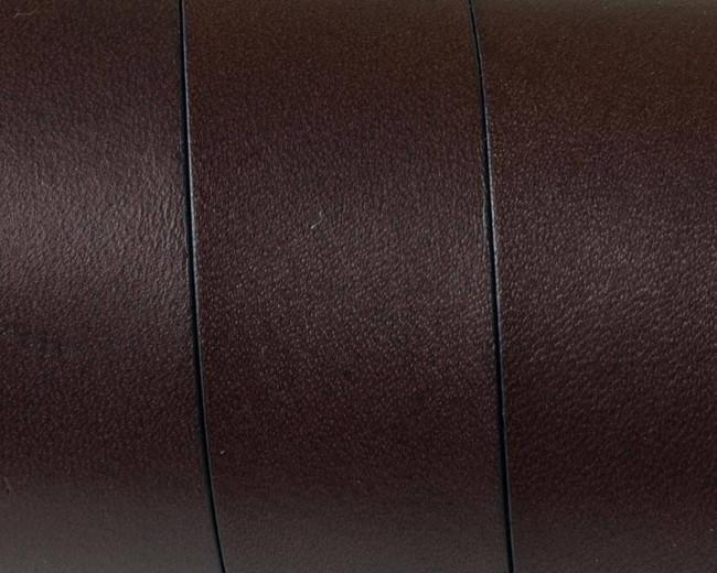 Flat Leather cord. 20x1.5mm. Dark Brown. Best Quality.