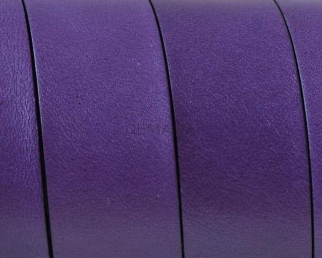 Flat Leather cord. 20x1.5mm. Purple-black. Best Quality.