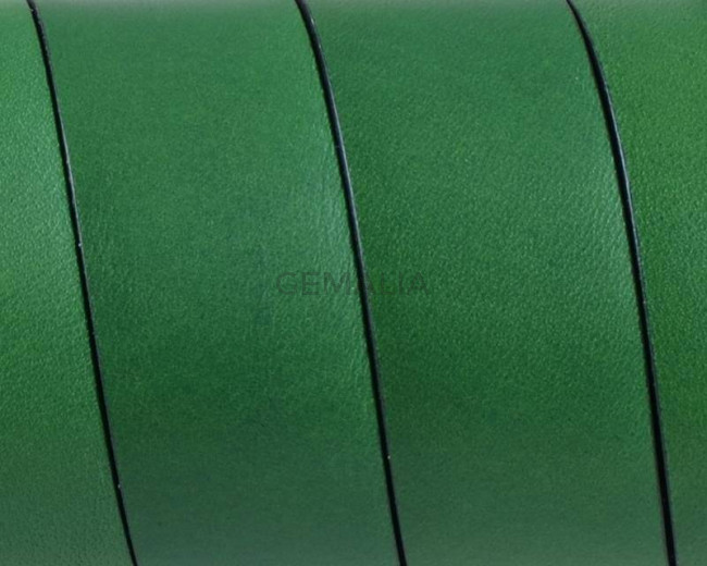 Flat Leather cord. 20x1.5mm. Green-black. Best Quality.