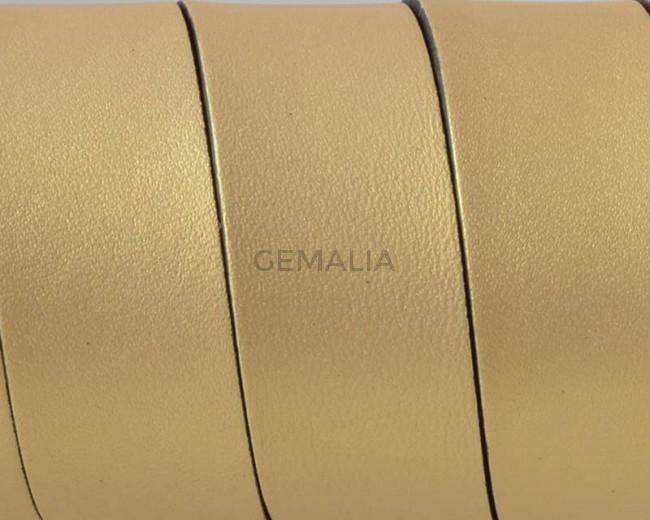 Flat Leather cord. 20x1.5mm. Metal gold2-black. Best Quality.